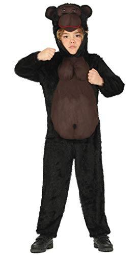 Gorilla Kostüm für Kinder - Größe 98-146 - Affen Fasching Karneval, Größe:140/146