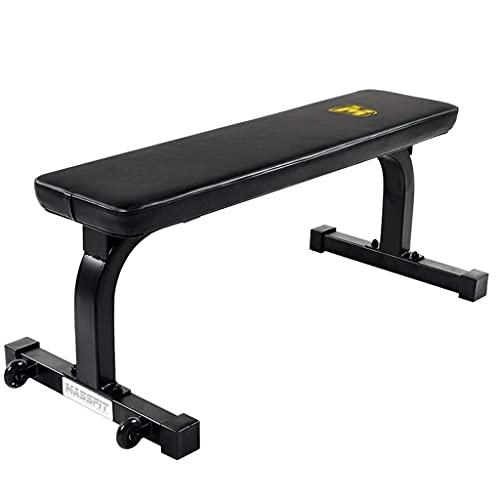 Inicio Equipo Banco de entrenamiento Taburete plano flexible, conveniente y móvil Banco de pesas para banco de ejercicios Entrenamiento de fuerza Entrenamiento de cuerpo completo para gimnasio en c