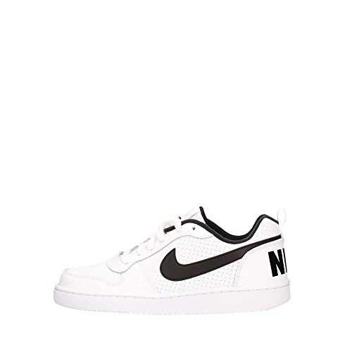 Nike Court Borough Low (GS), Scarpe da Basket Uomo, Bianco (White/Black 101), 39 EU