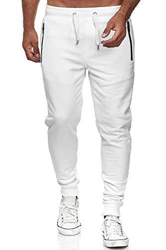 Redbridge Pantalone Sportivo per Uomo Joggers Tuta in Cotone Bianco M