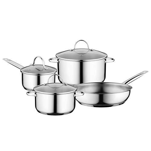 BergHOFF Essentials Comfort 7 piece, 18/10 Stainless Steel Cookware Set