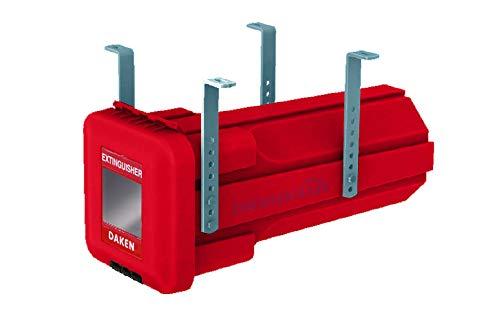 Feuerlöscherkasten inkl. Vertikal Halter für 6 kg Feuerlöscher Durchmesser 160 mm, Daken Sliden Edelstahlhaus, Daken S6+VH401