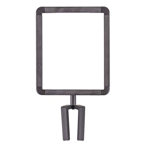 US Weight Plastic Stanchion Sign Holder with Plexiglass Covers for USW ChainBoss and Sentry Stanchions