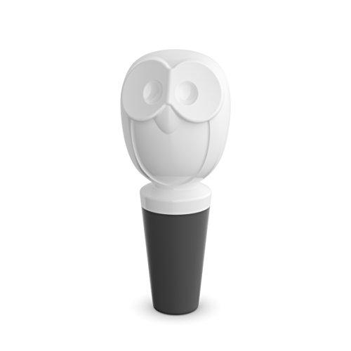 Koziol 3759479 Bouchon, Plastique, Blanc/Noir, 28 x 18 x 18 cm