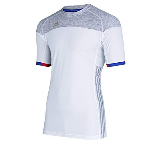 adidas Herren Training Trikot FFHB Shirt Sportshirt (weiß-grau, XL)