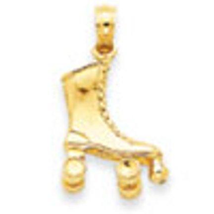 Kleine Schätze - 14 Karat 3D-Rollschuh-Anhänger Halskette (Kommt mit Eine 45 cm Kette)