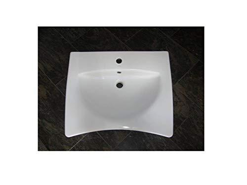 unterfahrbar + behindertengerechtes Waschbecken/Waschtisch / 65 cm breit/weiß/Best Clean Nanobeschichtung