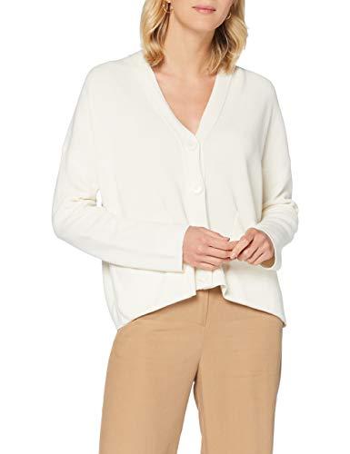 BOSS Womens Willia Cardigan Sweater, Open White (118), M