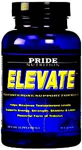 #1 Men's Confidence Strength Stamina Booster Supplement Elevate- Natural Formula for Muscle Growth with Longjack Tribulus Terrestris and Maca Helps Boost Strength Mass Stamina