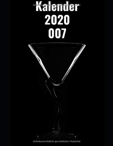 James Bond 007 Kalender 2020 - 2021: Kalender 2020-2021 Wochen Planer Logbuch Tagebuch Geschenk Todo Memory Book Budget Planer Geschenk | Männer, ... & Jungen | 21,59 x 27,94 cm (8,5