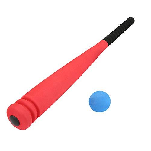 ZQO Bate de Béisbol de Espuma Mini 54cm Juego de Juguete de Béisbol para Niños Bate Suave T-Ball Bate de Béisbol Divertido para Interiores Exteriores para Niños Campo de Béisbol, Práctica de Bateo