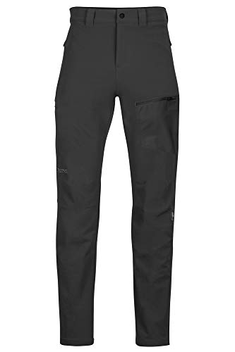 Marmot Herren Trekkinghose, Softshell Funktionshose, Wasserabweisend Scree Pant, Black, 34, 81910
