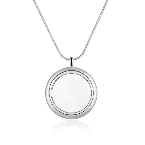 1pc Living Memory Floating Locket Pendant Necklace 28 inch for Charm Photo Picture Stainless Steel Women Girls Men Gift MCL284