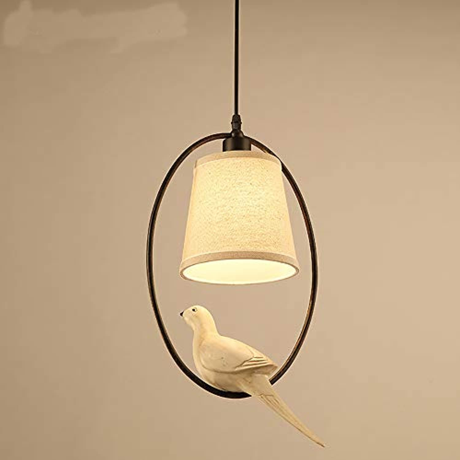 Vintage Industrial E27 Bird Chandelier, Creative Bar Chandelier, Simple Bedroom Lampe-E27