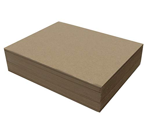 50 Chipboard Sheets 8.5 x 11 inch - 50pt (Point) Heavy Weight Brown Kraft Cardboard for Scrapbooking & Picture Frame Backing (.050 Caliper Thick) Paper Board | MagicWater Supply