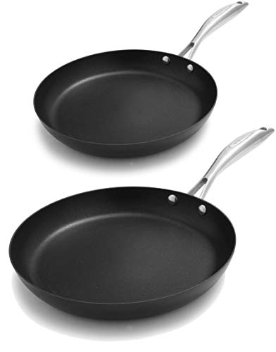 Scanpan PRO IQ 2 Piece Nonstick Fry Pan Set, Black