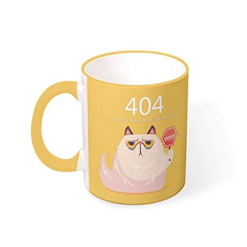 Bekende 11 OZ 404 Fout Kat Mix Koffie Bekers met Handvat Porselein Humor Cup - Grappige Programmeur Geschenken Mannen, Pak voor Familie gebruik