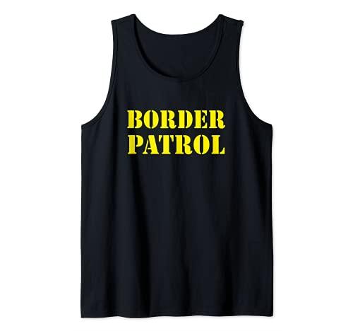Patrulla Fronteriza Polica Militar Aduanas Disfraz de Inmigr Camiseta sin Mangas