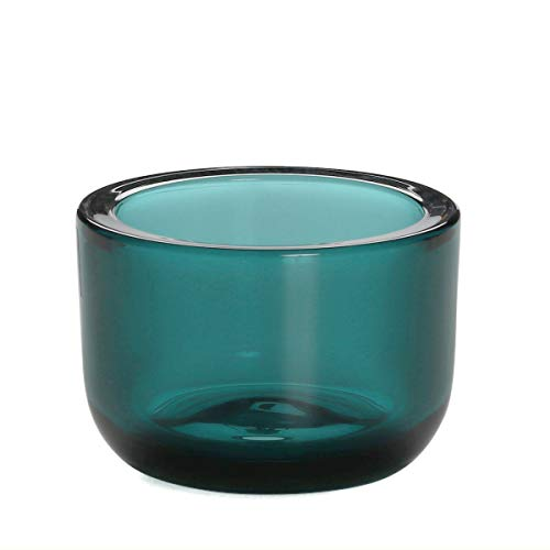Iittala - Valkea - Teelichthalter/Windlicht - Glas - ozeanblau/blau - Höhe 6cm