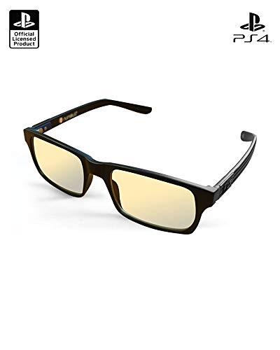 Official Sony PlayStation UV and Blue Light Blocking Glasses – Anti Glare and Anti Fatigue, UV Blue Light Blocking Glasses – Eye Protection for Computer and Video Games – Protective Gaming Glasses