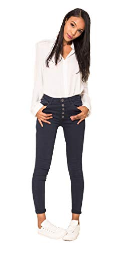 Crazy Age Damen Jeans Hose | 5 Pocket Denim | High Waist Jeans | Frauendenim in Herbstfarben |Super Skinny | Ultra Soft |Skinny | Stretch (Nevi, M~36)