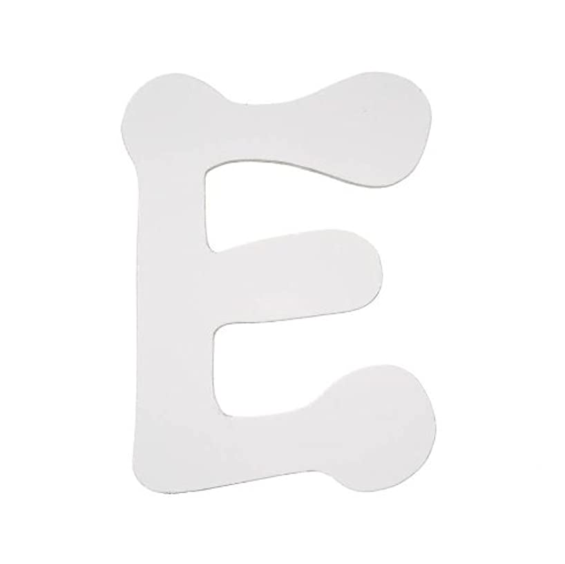 Darice 9185-E Wood Letters, Dot to Dot E, White, 5-Inch
