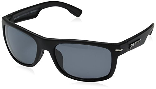 NEW Peppers PALISADES Floating Rubberized Black//Blue Mirror Polarized Sunglasses