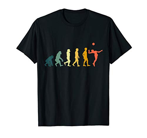 Retro Evolution Volleyball T-Shirt für Volleyballer Geschenk