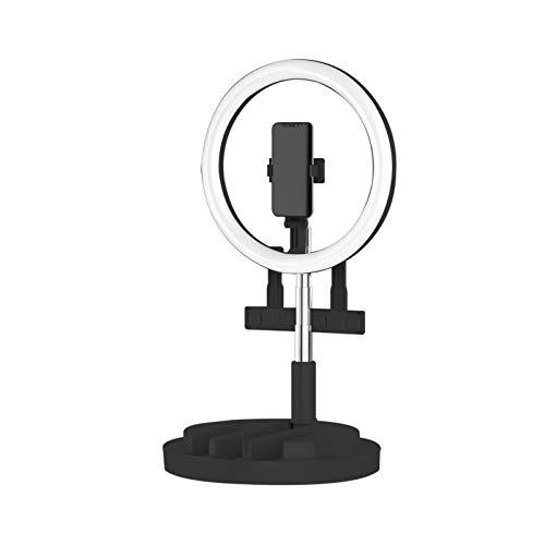 roosteruk Desktop Selfie Ring Licht, 11,4-Zoll-Desktop-Selfie mit 9 Helligkeitsstufen / 3 Beleuchtungsmodi, Für Make-up/Live/Fotografie/Videoaufnahme