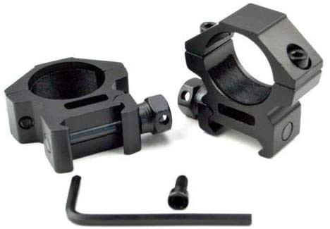 "360 TACTICAL 1"" Diameter Low Profile Rifle Scope Rings Picatinny Mount System 1 inch 2 pcs"