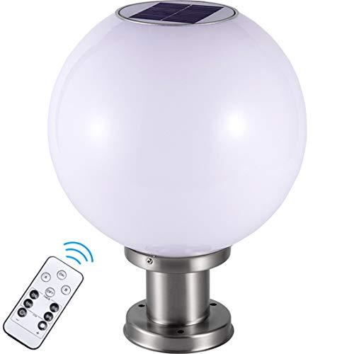 Dxyap Bolardo Luminoso LED con Control Remoto, Luz Exterior de Acrílico Blanco de 32cm de Altura IP65 a Prueba de Agua | Luminaria LED Lámparas | Luz De Pedestal