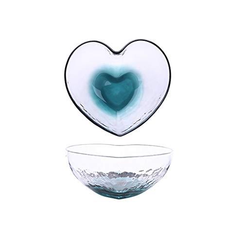 Eettafel transparante glazen kom slakom home Europese leuke fruitschaal groot medium kom liefde vaas dessert bowl