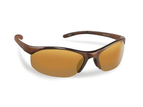 Flying Fisherman Bristol Polarized Sunglasses with AcuTint UV Blocker for Fishing and Outdoor Sports, Shiny Tortoise Frames/Amber Lenses
