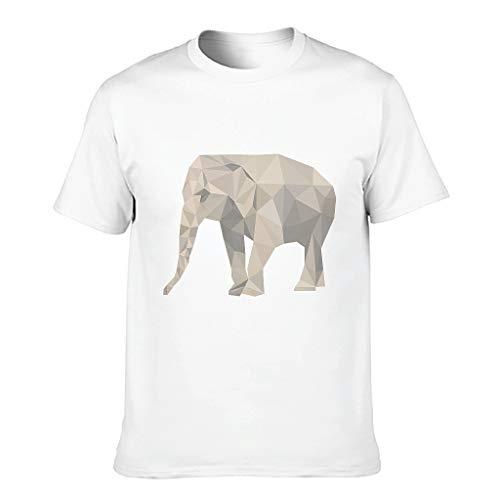 3D Druckten Herren T-ShirtsBaumwolle Tee O-Neck Rundhals T-Shirt HerrenT-Stücke White 3XL