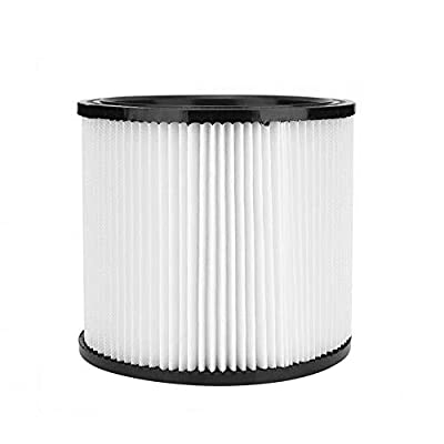 Filter Replacement Fit for Shop-Vac 903-98,9039800,903-98-00,90398 Shop-Vac 90398 Hangup Wet/Dry Vacuum Cartridge Filter, 1 Pack