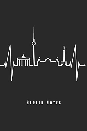"""Berlin Notes: Berlin Notizbuch Mit Herzschlag Planer Tagebuch Schreibheft - Geschenk Für Berliner & Berlin Fans (15,2 x 22.9 cm, 6\"""" x 9\"""", 120 Seiten, ... Geschenkidee Zum Geburtstag & Zu Weihnachten"""
