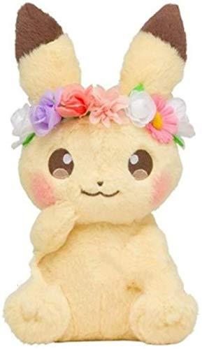 N-L Anime-Spiele Pokemon Plüschtier Pikachu Serie Spielzeug 18 cmOstern Blume Pikachu Maskottchen Niedliche weiche Plüschpuppe Baby Spielzeug Geburtstagsgeschenk