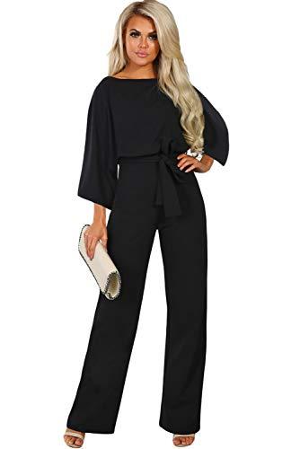 Paitluc Black Jumpsuit Long Sleeve Womens Jumpsuit Elegant Jumpsuits and Rompers Size L