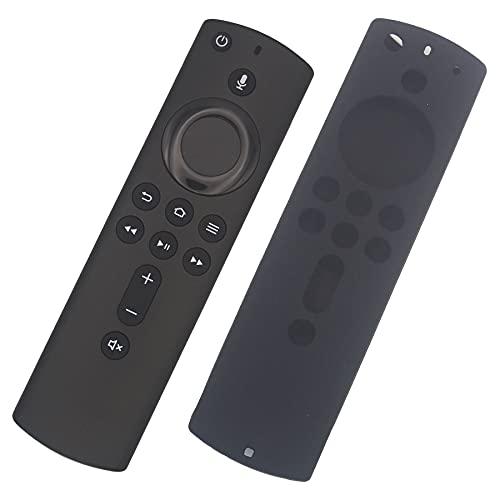 Voice Remote Replacement Fit for Amazon L5B83H 2AN7U-5463 Pendant Fire TV LDC9WZ Fire Stick 4K E9L29Y Fire TV Cube A78V3N EX69VW Y73PR (1pcs Free Black Silicon Case)
