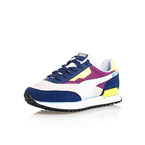 PUMA Future Rider Play On Sneaker Donna Elecktro Blue White 371149 36 36
