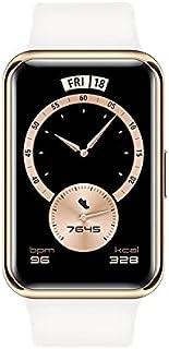 ساعة سمارت 1.64 بوصة مقاومة للماء بشاشة اموليد تعمل باللمس فيت Elegant من هواوي - ابيض فروستي - ضمان محلي