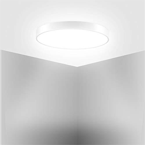 HXFYJ Lámpara de Techo LED, luz de Techo de Panel LED ultradelgada de 20W 1200lm, Accesorio de Techo Redondo Moderno para la Sala de Estar del Dormitorio,Cool White
