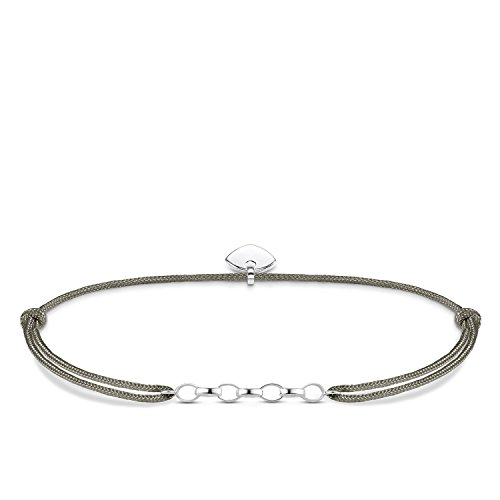 Thomas Sabo Damen-Armband Little Secret  925 Sterling Silber Grau LS047-173-5-L20v