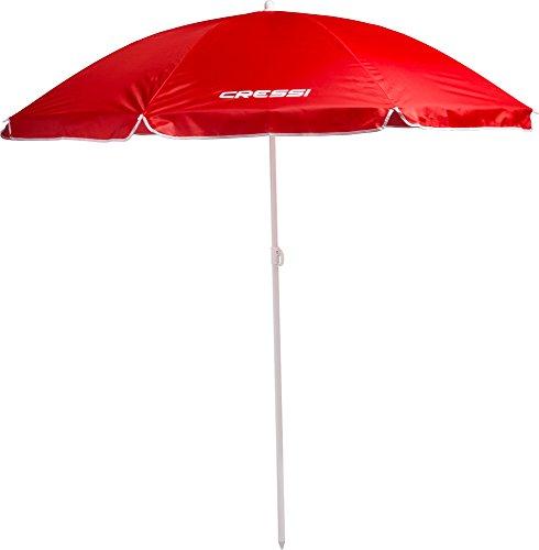 Cressi XVA810080 - Sombrilla Parasol Playa/Terraza/Jardín/Tiempo Libre, sin Bolsa, color Rojo
