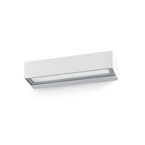 Faro Barcelona 71051 - TOLUCA Aplique (bombilla incluida) LED, 16W, cuerpo de alumino y cristal templado transparente, color blanco