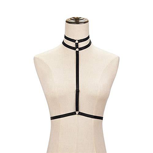 Opknoping Neck Straps Fun Temptation elastiek Line Gordelbanden Bandage Ondergoed ZHQHYQHHX (Color : Black, Size : One size)