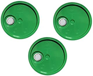 5 Gallon Bucket Lids, Green Reike Flex Spout Plastic Bucket and Pail Lid-UN Rated-3 Pack