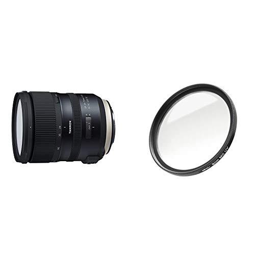 Tamron SP 24-70mm F/2.8 Di VC USD G2 Objektiv für Canon schwarz & Walimex Pro UV-Filter Slim MC 82 mm (inkl. Schutzhülle)