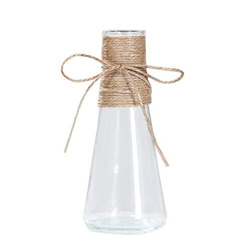 Doolland Jarrones de Cristal Floreros de Vidrio,Jarrones Decorativos Transparente para Decoración de Mesa de Flores (A3)