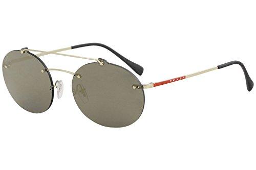 Prada LINEA ROSSA 0PS 56TS Gafas de sol, Pale Gold, 45 para Hombre